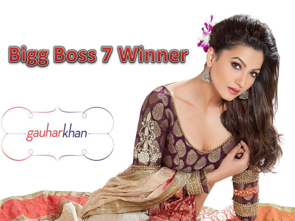 Bigg Boss 7 Winner Gauhar Khan